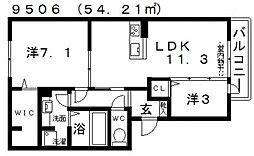仮)D-room天美我堂2丁目[105号室号室]の間取り