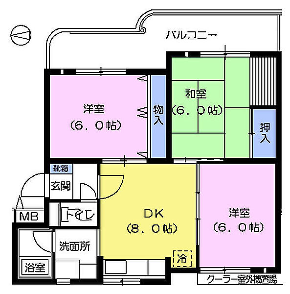ハイライフマンション[2階]の間取り