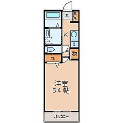 will Do 太閤通(ウィルドゥタイコウドオリ)[6階]の間取り