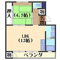 日電京都ハウス[510号室]の間取り