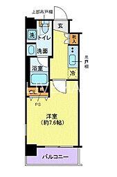 新交通ゆりかもめ 芝浦ふ頭駅 徒歩6分の賃貸マンション 8階1Kの間取り
