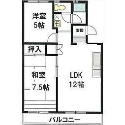 愛知県名古屋市名東区一社2の賃貸マンションの間取り