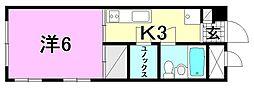 第三森ビル[406 号室号室]の間取り