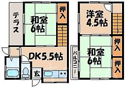 [テラスハウス] 広島県安芸郡海田町曙町 の賃貸【/】の間取り