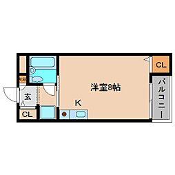 奈良県大和高田市田井の賃貸マンションの間取り