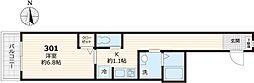 仮称メゾンデルミエール 3階1Kの間取り