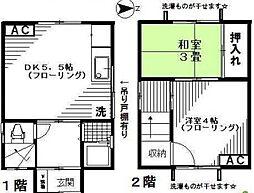 [一戸建] 東京都北区堀船1丁目 の賃貸【/】の間取り