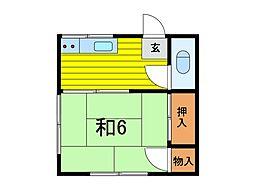 吉野荘B[2階]の間取り