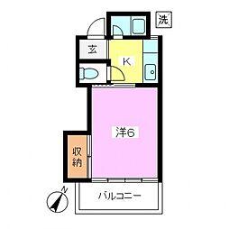 東京都世田谷区鎌田1丁目の賃貸アパートの間取り