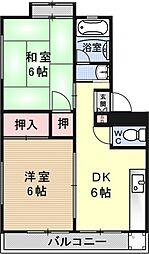 中島マンション[205号室号室]の間取り