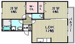 フラワーメゾンA棟[2階]の間取り