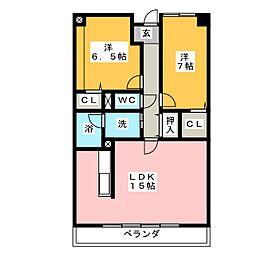 メルキュール開明[3階]の間取り
