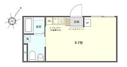 JR京浜東北・根岸線 鶯谷駅 徒歩7分の賃貸マンション 1階ワンルームの間取り