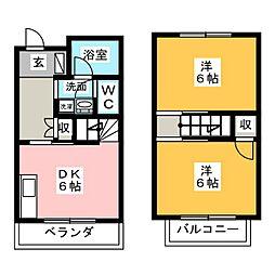 [テラスハウス] 愛知県一宮市今伊勢町本神戸字天王 の賃貸【/】の間取り