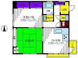 東京都立川市柴崎町3丁目の賃貸マンションの間取り