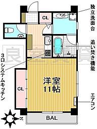 愛知県名古屋市千種区園山町1丁目の賃貸マンションの間取り