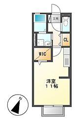 コンフォート荒田[1階]の間取り