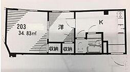トラストフォーム勝田台[203号室]の間取り