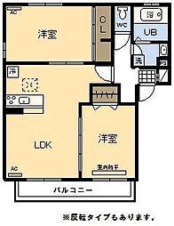 (新築)D‐room 高岡[203号室]の間取り