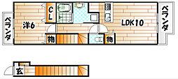 サンフレイムYABEII A棟[2階]の間取り