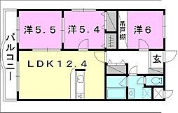 アルトフルス・M[101 号室号室]の間取り