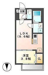 D・リナリア[2階]の間取り