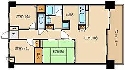 ライオンズマンション瓢箪山[4階]の間取り