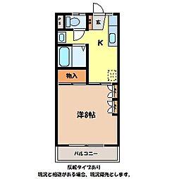 長野県伊那市境の賃貸アパートの間取り