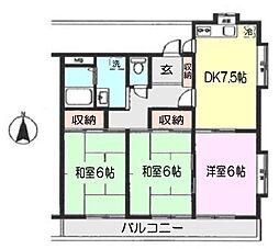 増島ハイツ[201号室]の間取り