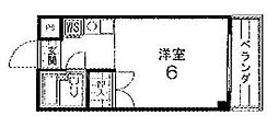 COSMO PALACE[402号室号室]の間取り