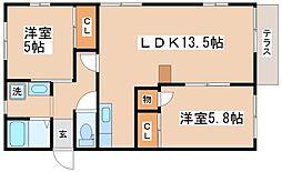 メゾン福田[B103号室]の間取り