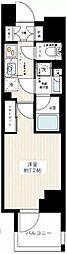 JR常磐線 南千住駅 徒歩10分の賃貸マンション 13階1Kの間取り