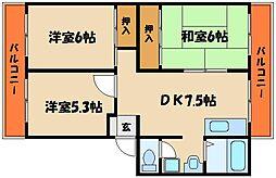 増田ハイツ[1階]の間取り