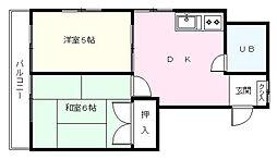 SHIMIZU.BLD.No.2[202号室]の間取り