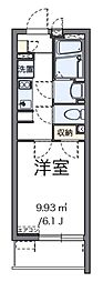 神奈川県大和市中央4丁目の賃貸アパートの間取り