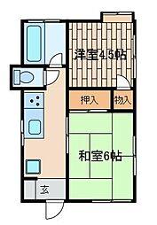 宮坂荘[1階]の間取り