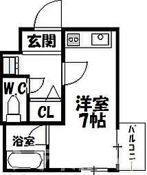 大阪府大阪市東住吉区北田辺3丁目の賃貸マンションの間取り