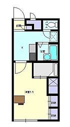 レオパレスMDAII[2階]の間取り