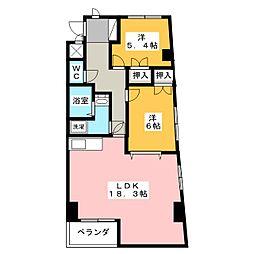 MYフラワーマンション[2階]の間取り
