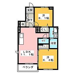 レインボー ローズI[1階]の間取り