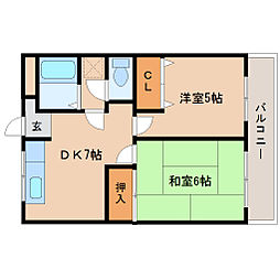マンションフローラ[5階]の間取り
