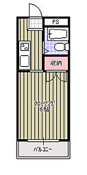 西都賀ハイリビング壱番館[2E号室]の間取り