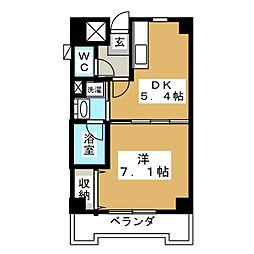 カヤバプラザF館[6階]の間取り
