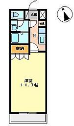 エレガンスI[1階]の間取り