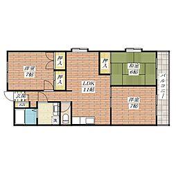 パステル新堂[3階]の間取り