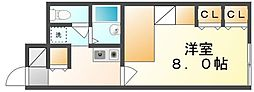 JR高徳線 志度駅 徒歩14分の賃貸アパート 1階1Kの間取り