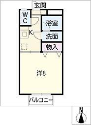 コーポパルパル S棟[2階]の間取り