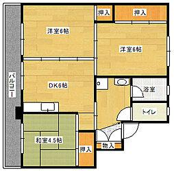 ビレッジハウス吉井II 1号棟[102号室]の間取り