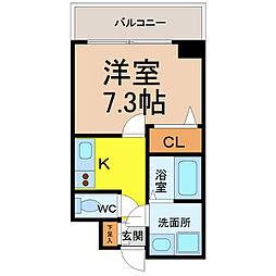 愛知県名古屋市中村区羽衣町の賃貸マンションの間取り