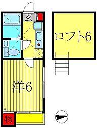 コンパートメントハウス柏II[1階]の間取り